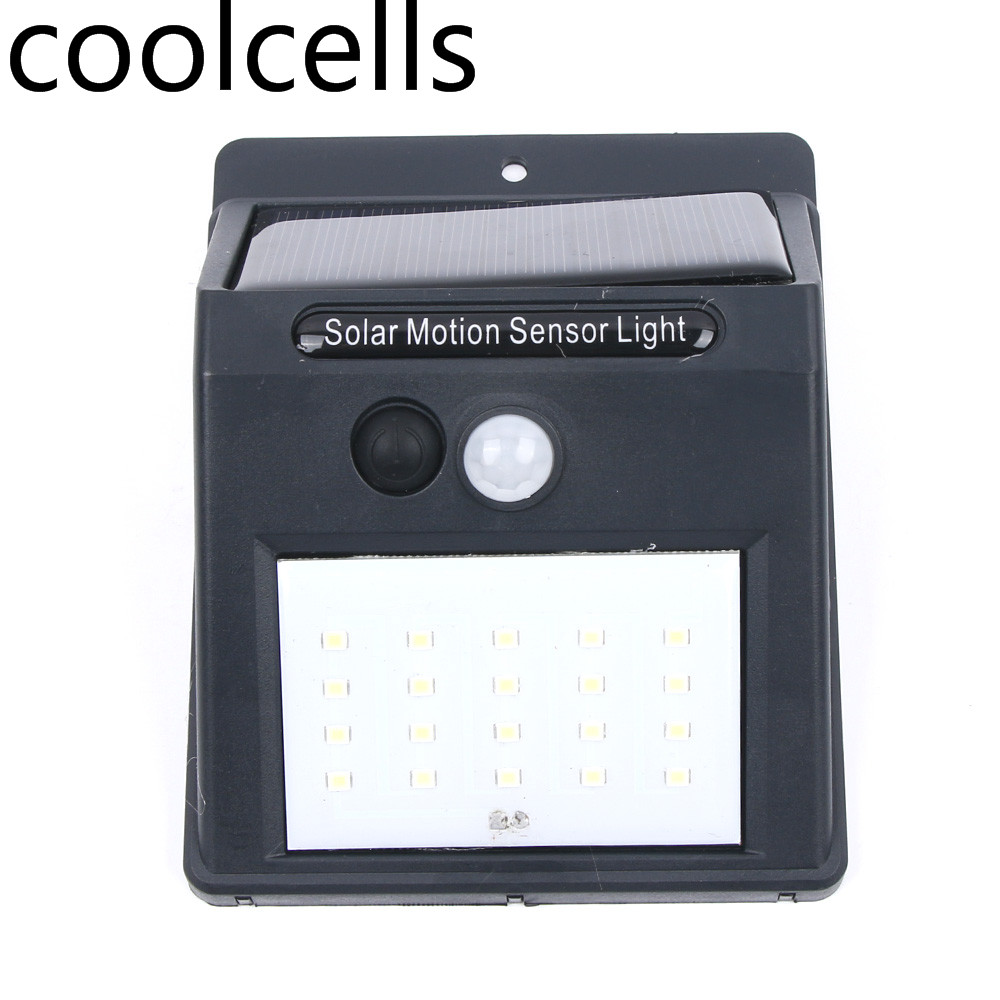 цены на 20 LED Solar Power Motion Sensor Wall Light Outdoor Waterproof Energy Saving Street Garden Lamp