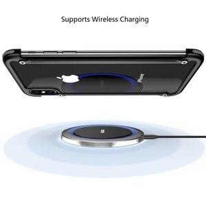 Image 4 - OATSBASF מתכת מסגרת צורת עם כרית אוויר עמיד הלם טלפון מקרה עבור iphone XS מקס XS XR מגן פגוש אחורי כיסוי עם סרט
