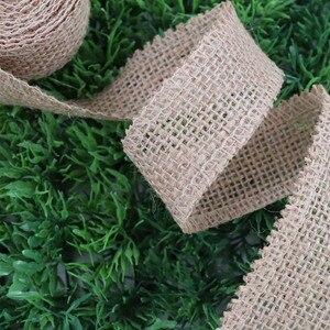 Image 3 - IBOWS 50yards Jute Burlap Ribbon Natural Hemp Ribbon for DIY Bag Material Wedding Party Craft Decorative Gift Warrping Wholesale