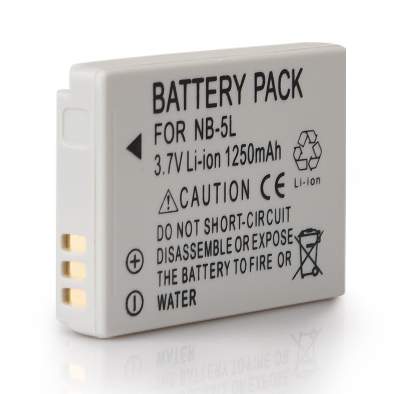 1250mAh NB-5L NB 5L Li-ion <font><b>Battery</b></font> For <font><b>Canon</b></font> SX200is SX210IS SX220HS <font><b>SX230HS</b></font> CB-2LXE PowerShot S100 SD970 Batteria Pack image