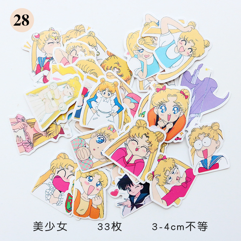 1pcs/sell Sailor Moon Notebook Pack Posted It Kawaii Planner Scrapbooking Stickers Stationery Escolar School Supplies Street Price Notebooks
