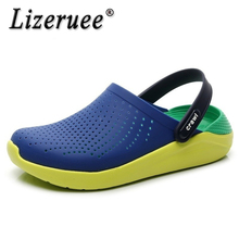 Lizeruee Summer EVA Slippers Men Clogs Outdoor Slides Couple Flip Flops Girl Flats Platform Shoes Rubber Shoes Zapatos Mujer