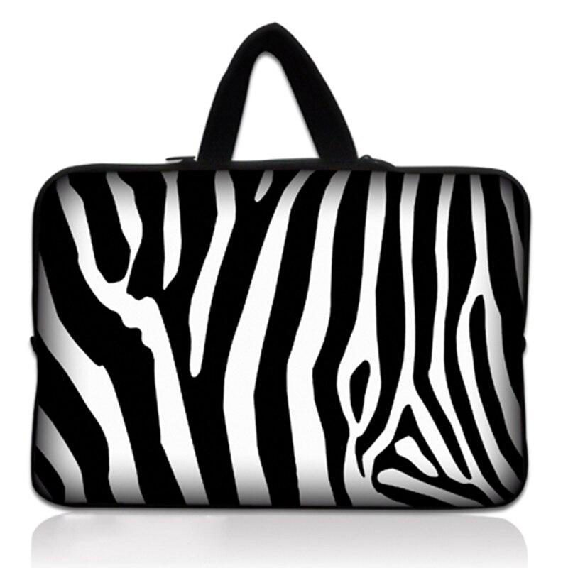 """13 """"13.3"""" Zebra Borsa Del Computer Per Notebook Neoprene Manicotto Del Computer Portatile Cassa Del Sacchetto Per Lenovo Yoga 3 Pro-i5y70/alienware 13 Per Dell Modelli Alla Moda"""