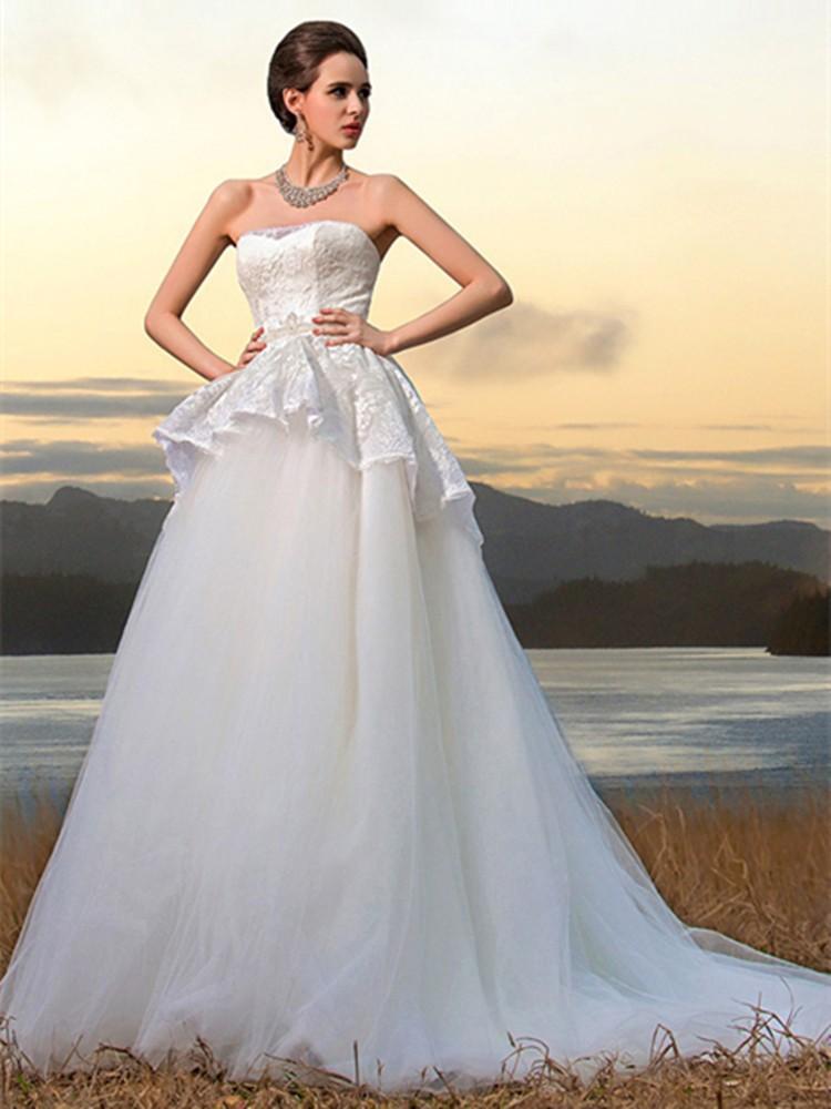 Romantic Wedding Lovers Theme Wedding Dresses Sexy Sweetheart