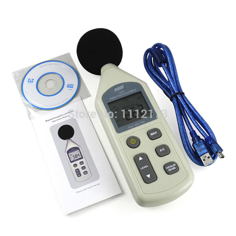 WS1361 30-130dB LCD Digital Sound Level Meter Noise Measuring Instrument Decibel Monitoring Logger Tester copenhagen