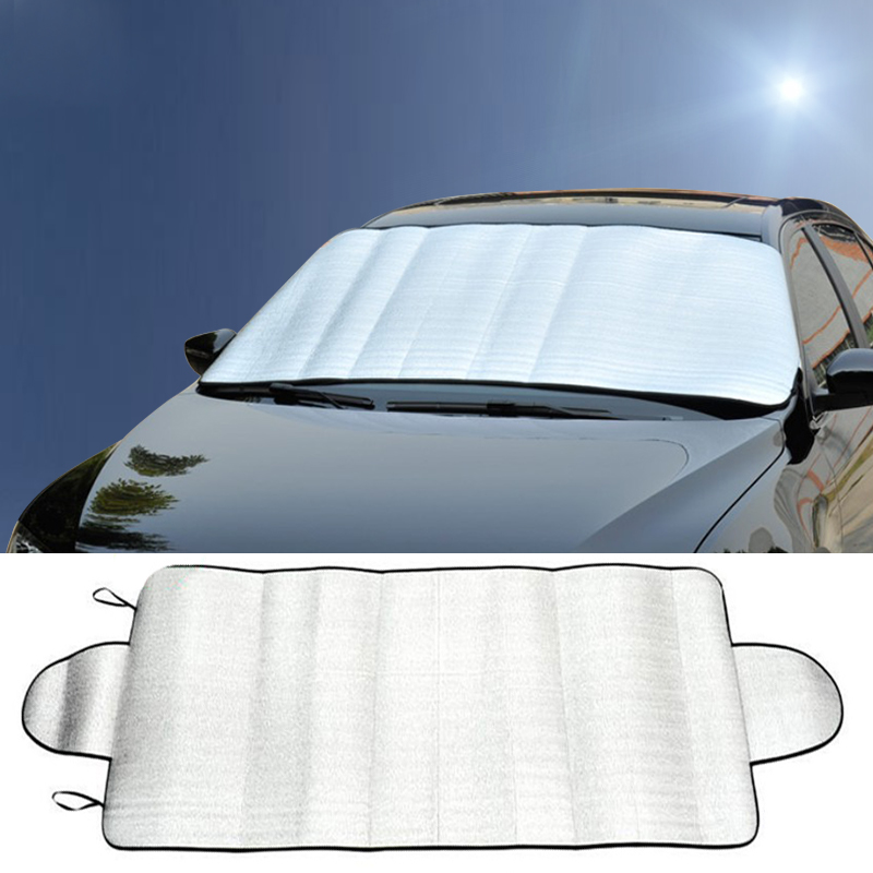 Winter Car Cover >> Us 2 12 Universal Portable Car Covers Windscreen Cover Heat Sun Shade Anti Snow Frost Ice Shield Dust Protector Winter 192 X 70cm In Car Covers From