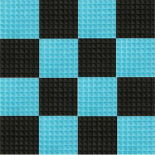 цена на 16pcs/set Black+Blue Sound Absorption Pyramid Studio Foam Sponge Polyurethane Foam Sponge  Acoustic Material For KTV, Party, etc