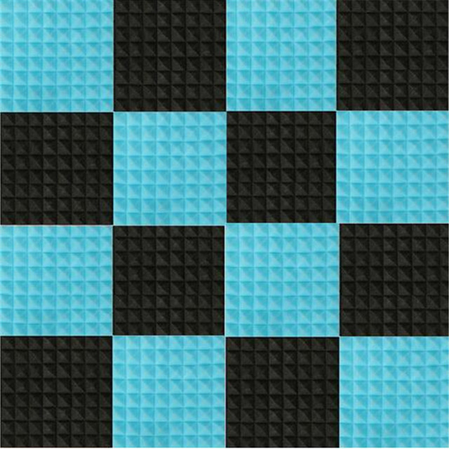 d41176e69c 16pcs set Black+Blue Sound Absorption Pyramid Studio Foam Sponge  Polyurethane Foam Sponge Acoustic Material For KTV