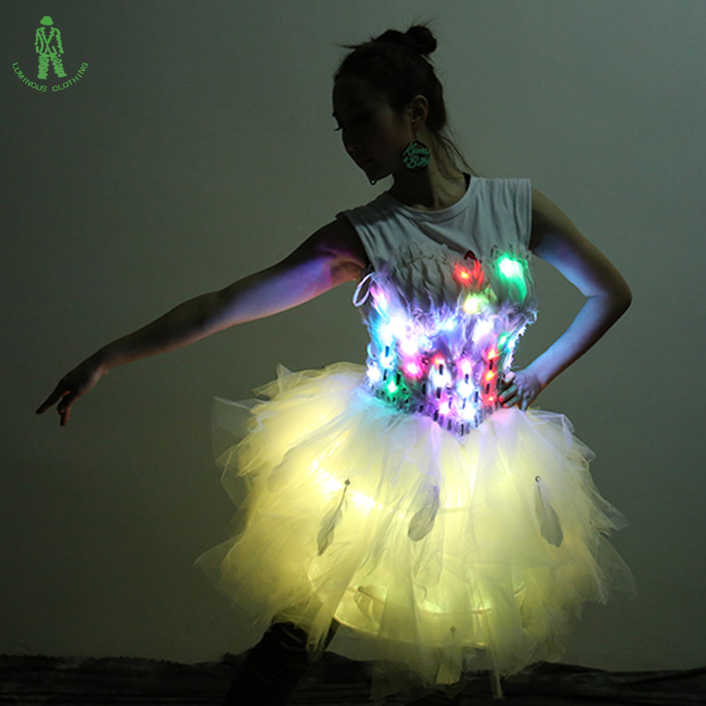 Ücretsiz Kargo Renkli LED Aydınlatma Giyim Gösterisi Kulübü - Tatiller ve Partiler Için - Fotoğraf 4