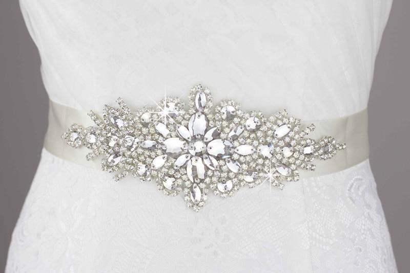 Inofinn 55# Crystal Wedding Belt Rhinestone Czech Stones Bride Bridal Belt Sashes Wedding Accessories Evening Dress Belt Sashes