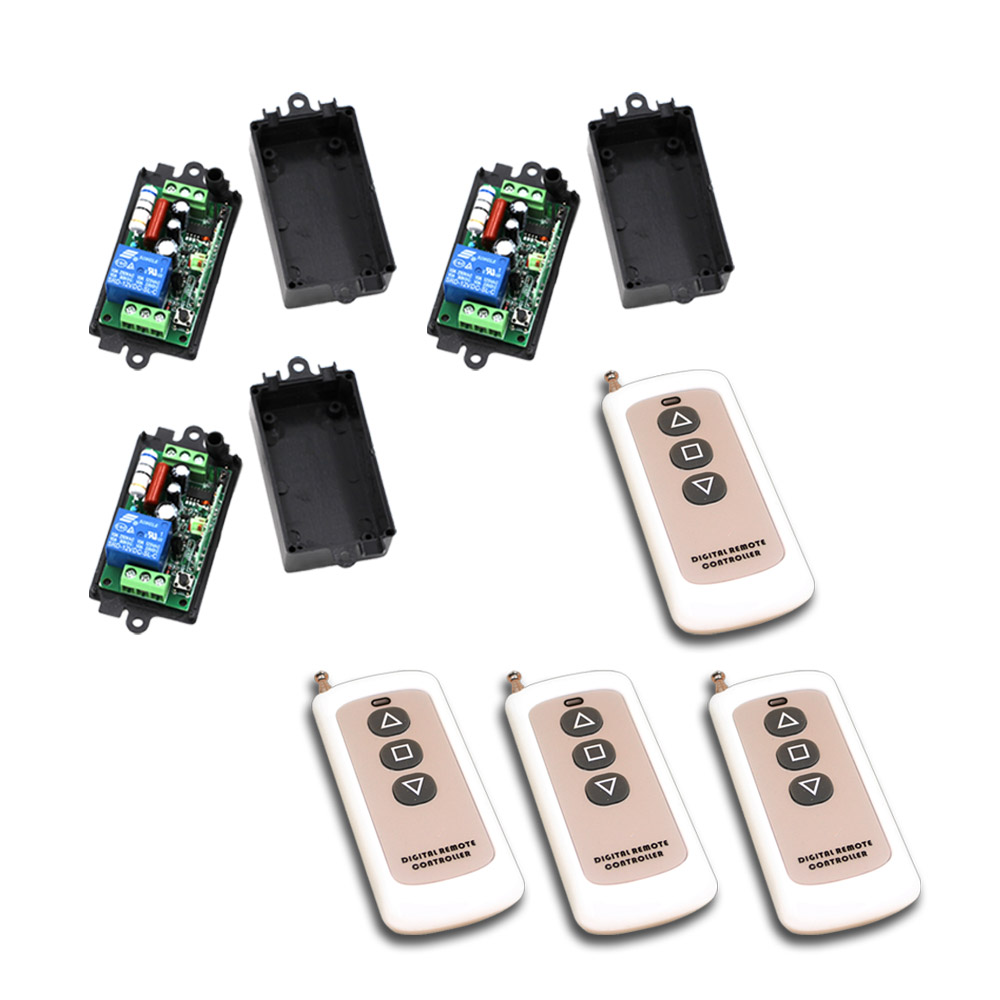 Wireless Remote Control Switch RF Wireless Remote Switch 1CH 10A Relay AC 110V Receiver Teleswitch With 3 button Transmitter smart system remote control switch ac 220v 1ch rf wireless 3 transmitter with two button receiver switch 2260 2262 sku 5065