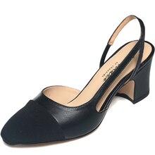 รองเท้าแตะผู้หญิงแท้2016แบรนด์ใหม่รองเท้าผู้หญิงแฟชั่นP Atchworkสแควร์ส้นรองเท้าขนาดบวกZ Apatos Mujer