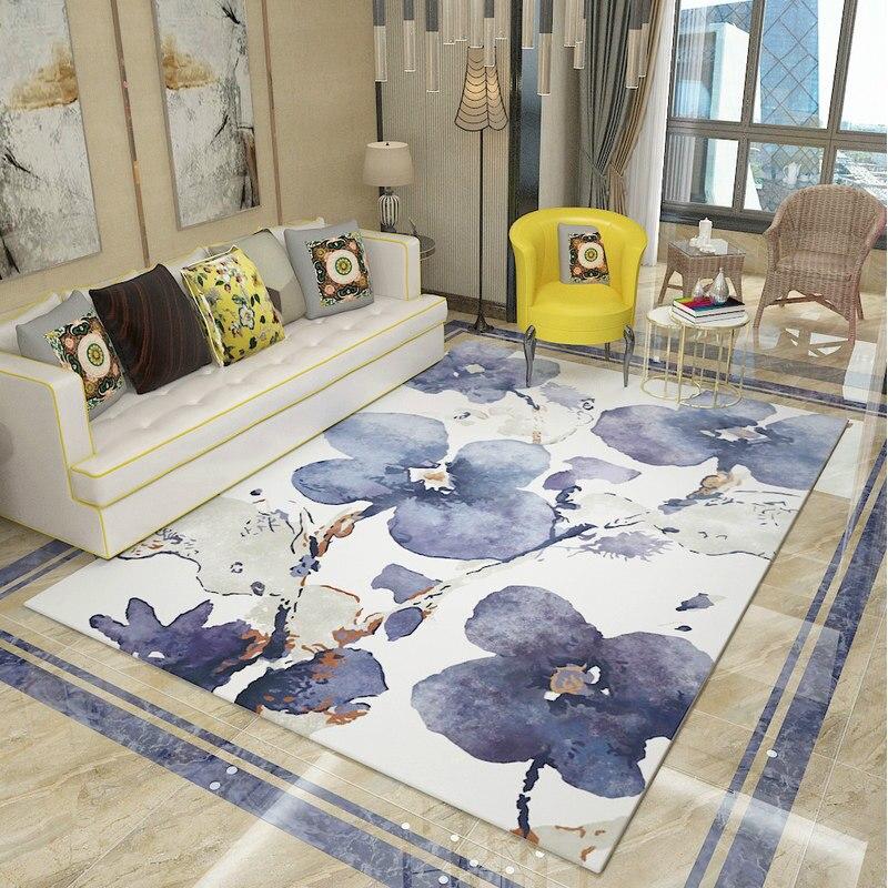 Tapis de série florale pastorale pour salon tapis et tapis romantiques pour la maison chambre étude tapis de sol Table basse tapis