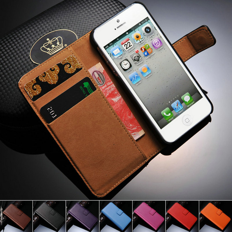 genuine leather coque case for iphone 5 5s se wallet stand. Black Bedroom Furniture Sets. Home Design Ideas