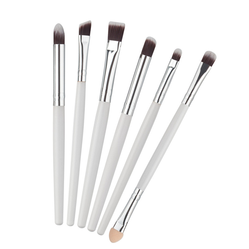 Pro 5Pcs Makeup Brushes Set Powder Blush Foundation Eyeshadow Eyeliner Lip Silver Cosmetic Brush Kit Beauty Tools Maquiagem