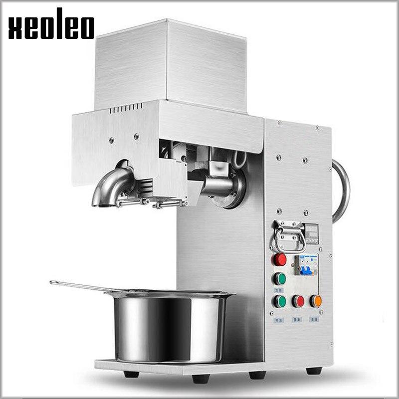 Xeoleo Commercial Oil press machine Stainless steel Oil presser for sesame/Melon seeds/Rapeseed/flax/walnut Peanut oil presser