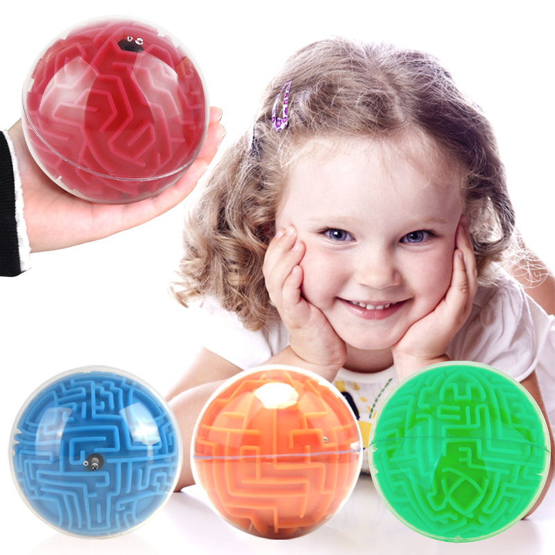 UainCube 3D Puzzle Maze ball Toy Hand Game Case Box Fun Brain Game Challenge Fidget Toys Balance Educational Toys for children in Magic Cubes from Toys Hobbies