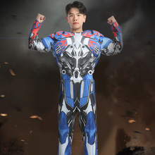 Halloween costume adult cosplay transformers Optimus Prime clothes mask muscle clothing