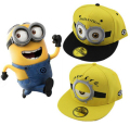 Baseball Cap Children Chapeau Yellow Cartoon God Steal Dads Casquette Film Minions Gorras Canvas Flat Snapback Hip-hop Hat