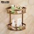 Полка для ванной комнаты  античная алюминиевая двухслойная угловая полка для ванной комнаты  держатель для ванной комнаты  корзина для душа...