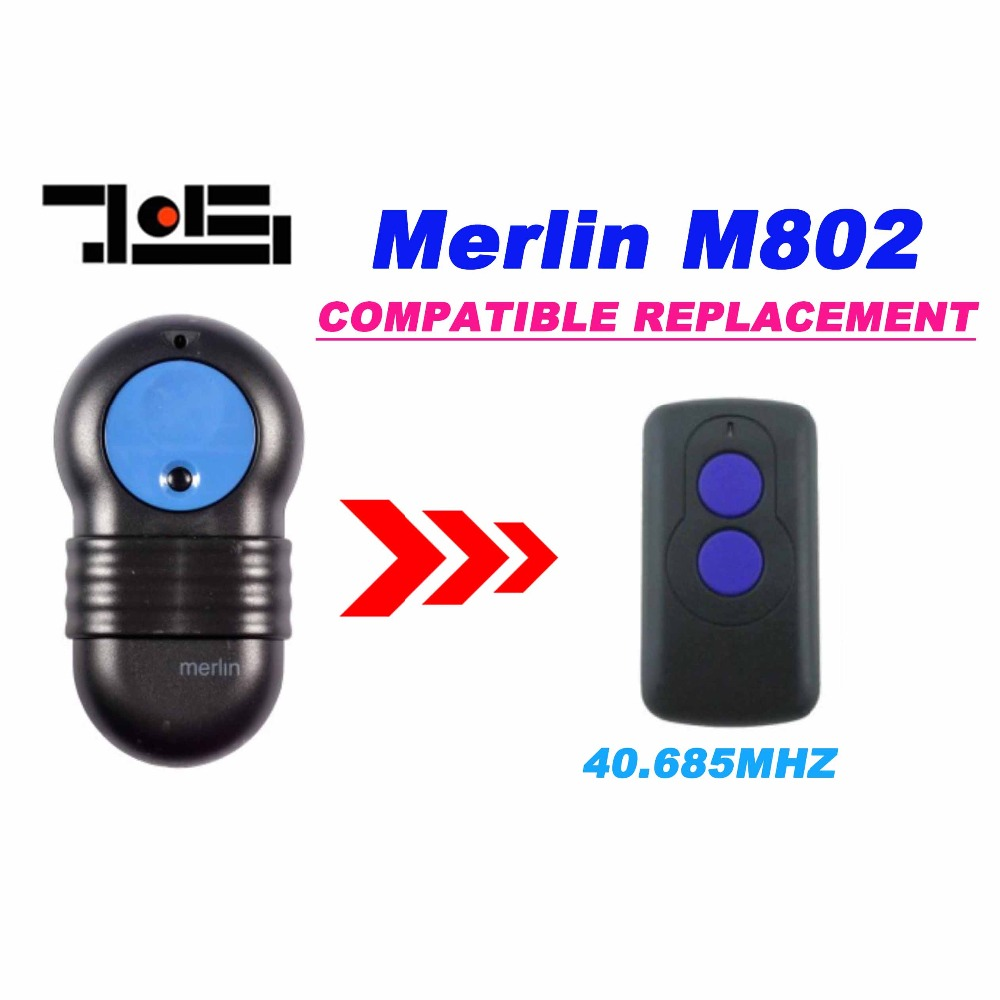 Wholesale 50pcs DHL shipping Merlin Replacement M802 DIP SWITHCHES 40.685MHz Garage Door Hand Remote Control цены