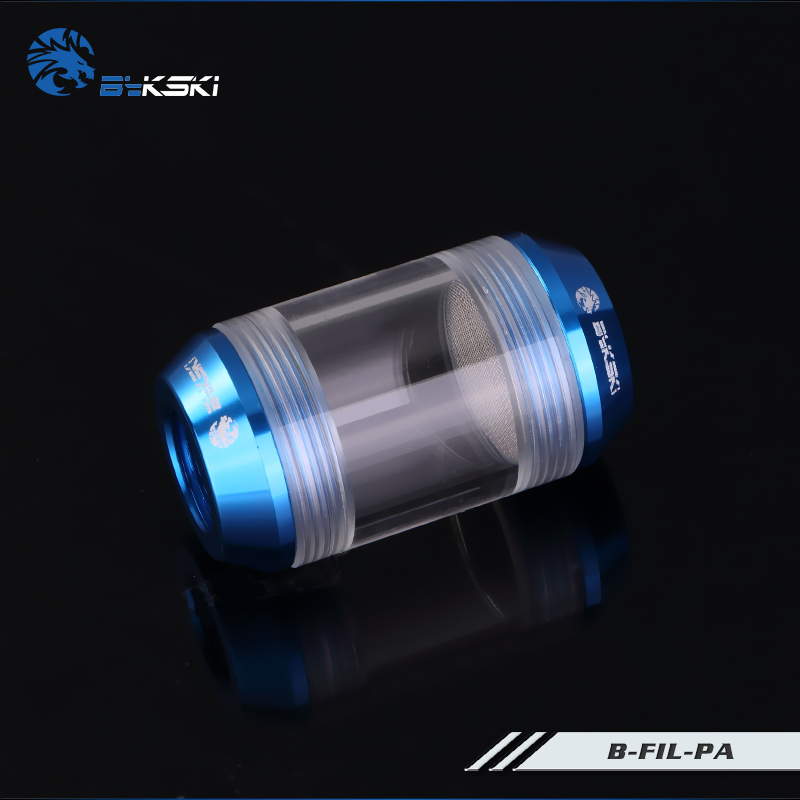 BYKSKI G1/4 Acrylic Filter Water Cooling System Connector Dual Spiral Pattern Filters Computer Accessories Fitting B-FIL-PA bykski b ram x acrylic water cooling block ram dual channel 4 channel compatible water cooling kit