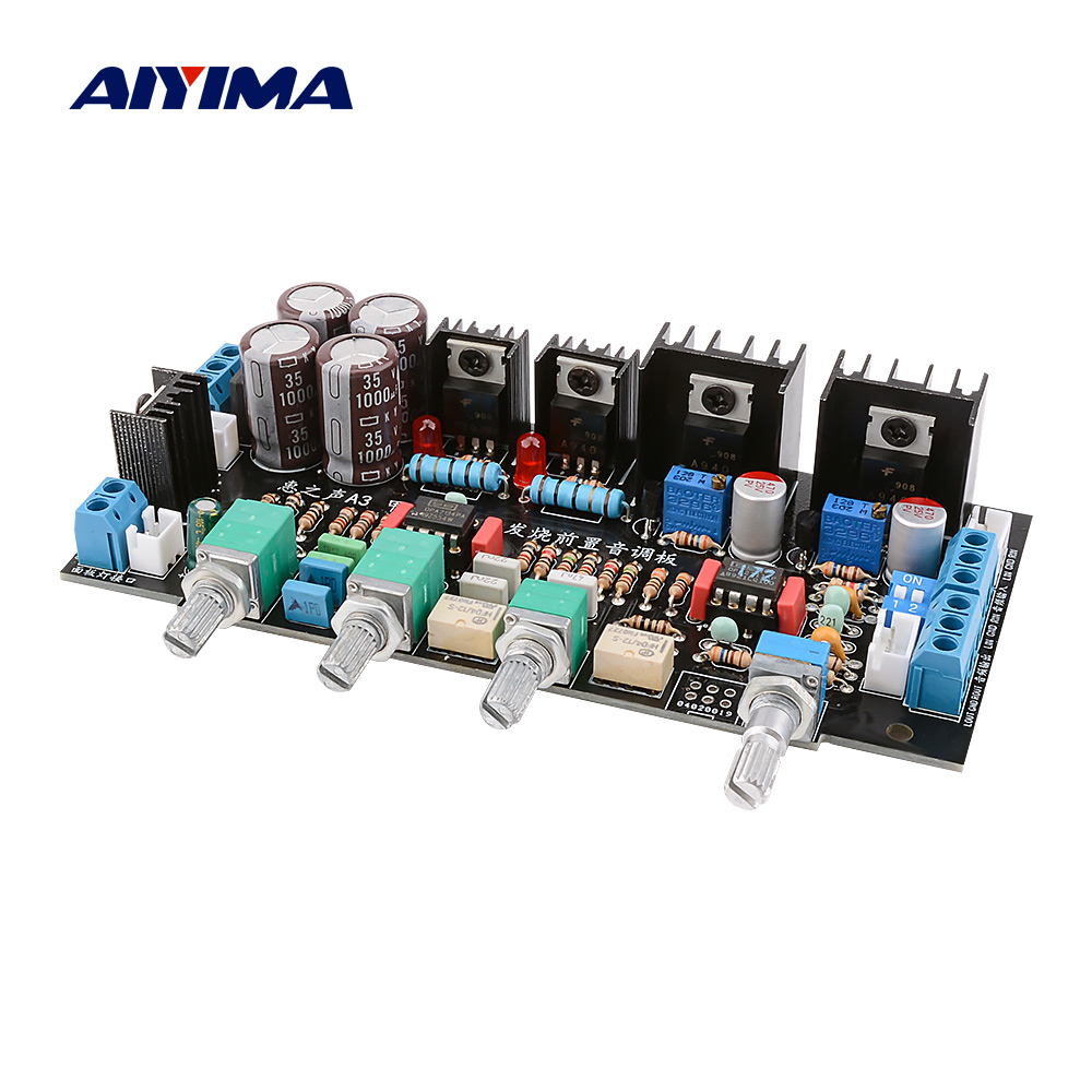 AIYIMA Preamplifier Tone Audio Board OPA2107+OPA2132 Class A Parallel NE5532 Volume Control HIFI Amplifier Preamp