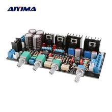 Aiyima プリアンプトーンオーディオボード OPA2107 + OPA2604 クラスパラレル NE5532 ボリュームコントロールハイファイアンプ、プリアンプ