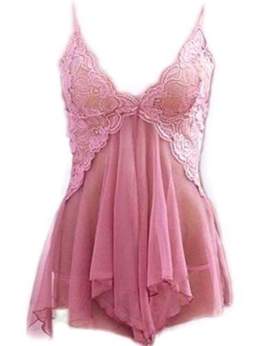 Sexy Babydoll Lingerie Women Nightgown Sleepwear Nightie Lace Chemise Lingerie