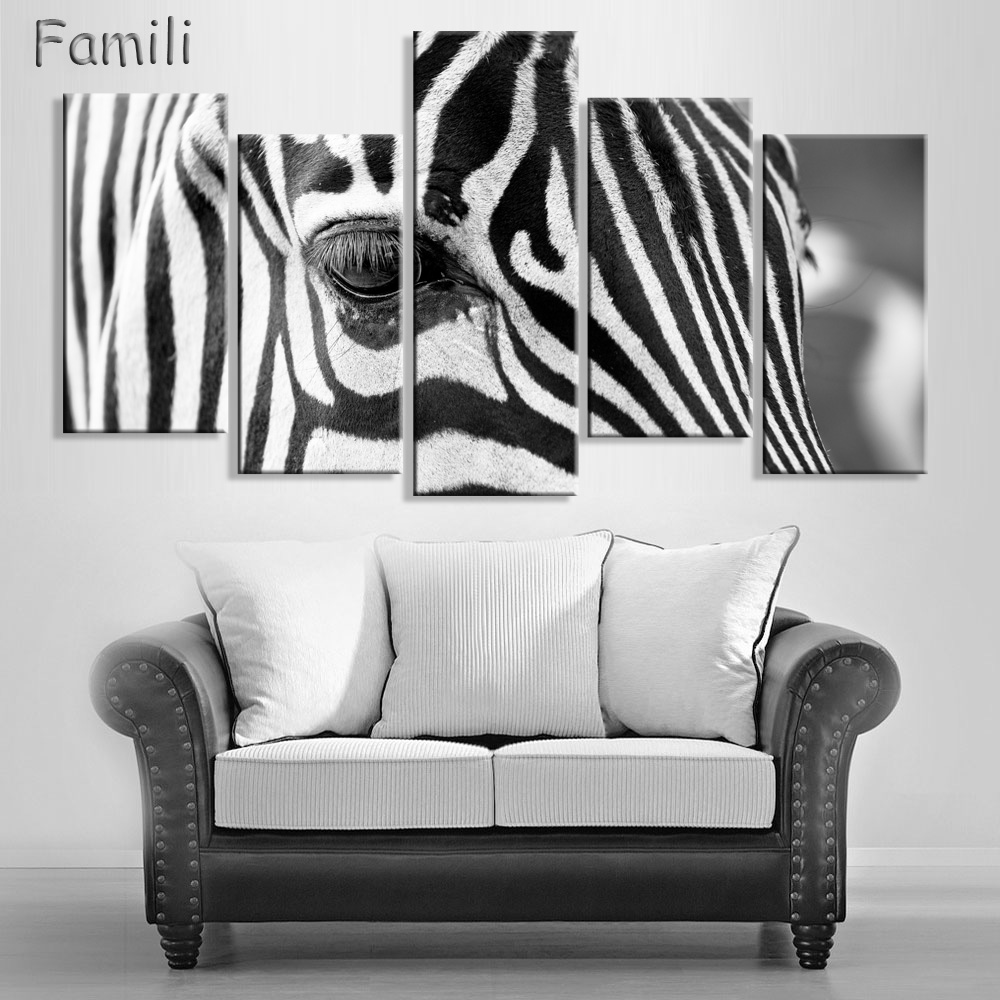 Wholesale Modern 5 Pieces Animal HandPainted Oil Canvas