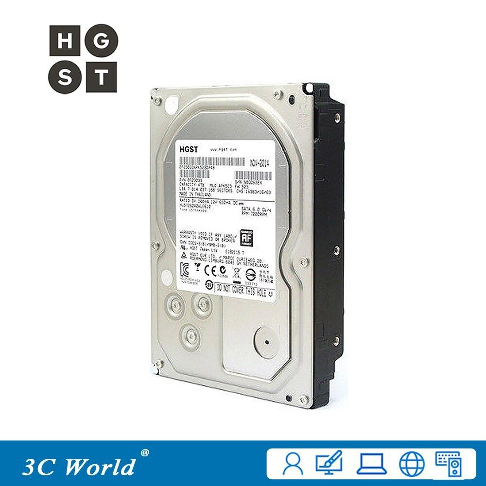 "Original hgst 4 tb disco rígido hdd 7200rpm 64 mb cache sata iii 3.5 ""desktop servidor monitoramento disco rígido"