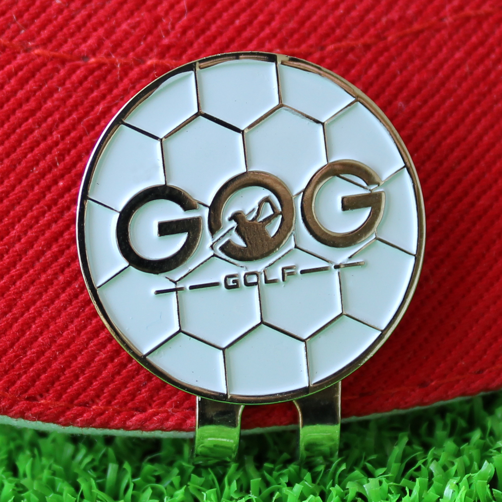 GOG Golf Ball Marker With Hat Clip Alloy Professional Training Aids Accessories