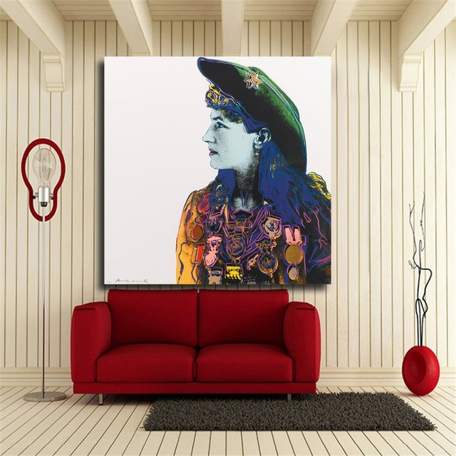 HDARTISAN Andy Warhol Annie Oakley Portrait Print Wall Art Decor Oil  Painting Wall Painting Picture Posters