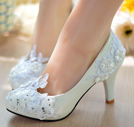 100% hand made real photos womens wedding pumps shoes white light ivory TG205 lace wedding bridal pumps with platforms womens
