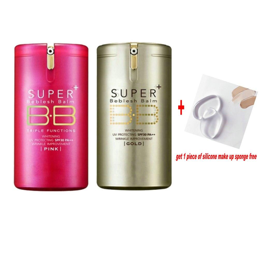 Ouro Rosa Bálsamo BB Creme Fundação Base de camada de Primer Corretivo Protetor Solar PA ++ SPF30 Profissional Super Beblesh Maquiagem Tampa Perfeita