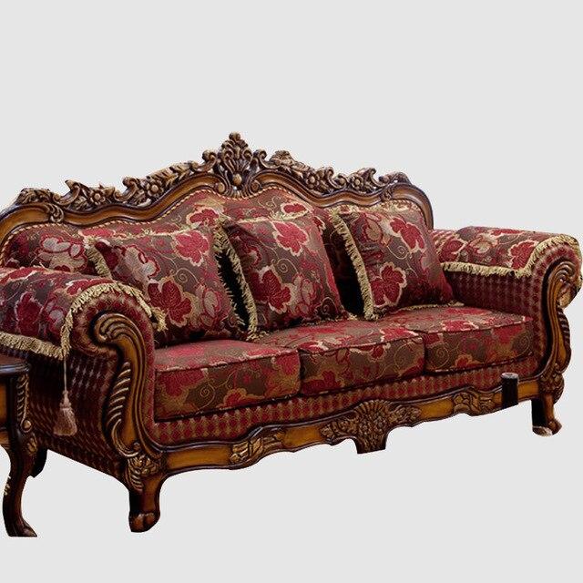 Bon American Sofa 1 + 2 + 3 Combination Of Luxury Living Room Fabric Sofa  European Wood