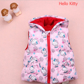 Hello kitty Baby Winter Outerwear Coat Waistcoat hooded POLY CHIFFON Fleece Newborn baby Vest coat infant costume baby vest