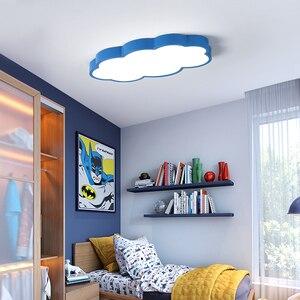 Image 4 - Luces LED de techo blancas/rosas/azules para habitación de niños, decoración para el hogar, lámpara de techo, accesorios de iluminación para habitación de niño y niña