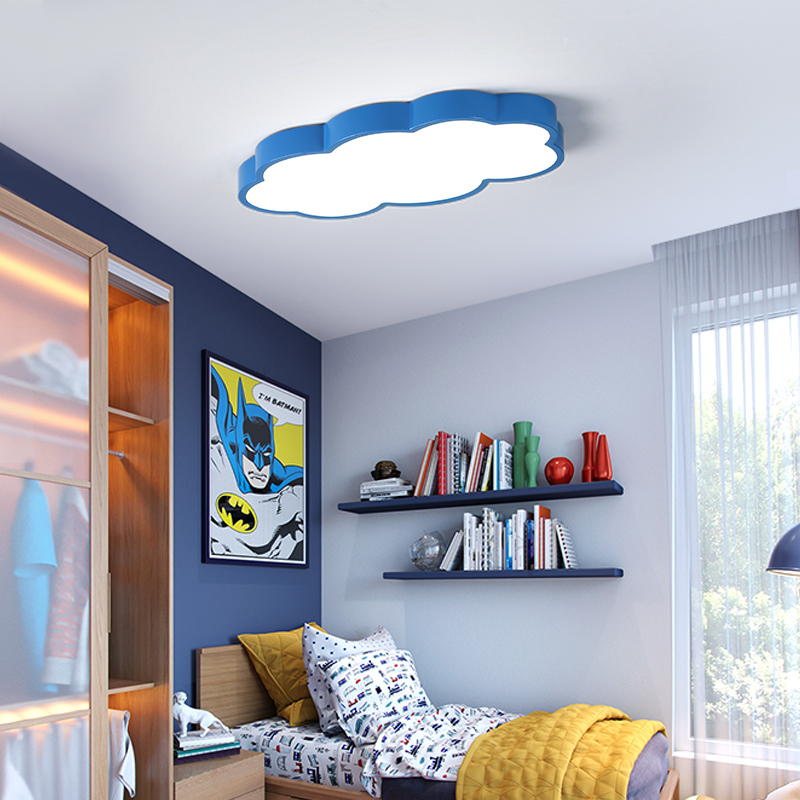 Image 4 - White/Pink/Blue Cloud LED Ceiling Lights For Childrens Room Kids Room Home Deco Ceiling Lamp Boy Girl Room Lighting Fixtures-in Ceiling Lights from Lights & Lighting