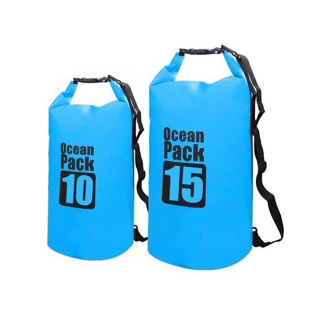 efaa2704362b 2L 5L 10L 15L 20L 30L Super Light PVC Dry Bag for Kayaking Rafting Surfing  Sport Swimming Drift Sack Portable River Trekking Bag