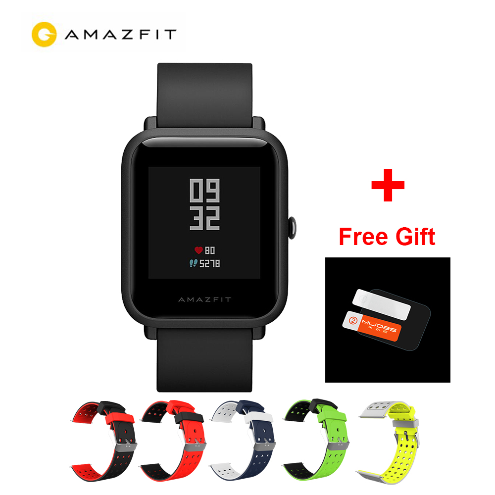 International Version Xiaomi Huami Amazfit Bip IP68 GPS Smart Watch 45 Days Standby Support Strava Heart