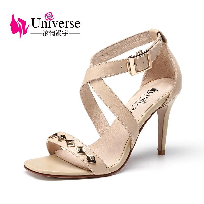 Universe Cross-Strap Woman Sandals Fashion Super High Heel Thin Heel shoes G150