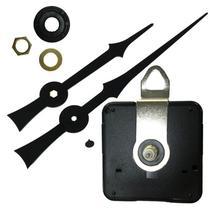 DHL 100 sets long black hands Quartz Wall Clock Movement Mechanism DIY Repair Tool Parts Kit 28 mm shaft with metal hooks