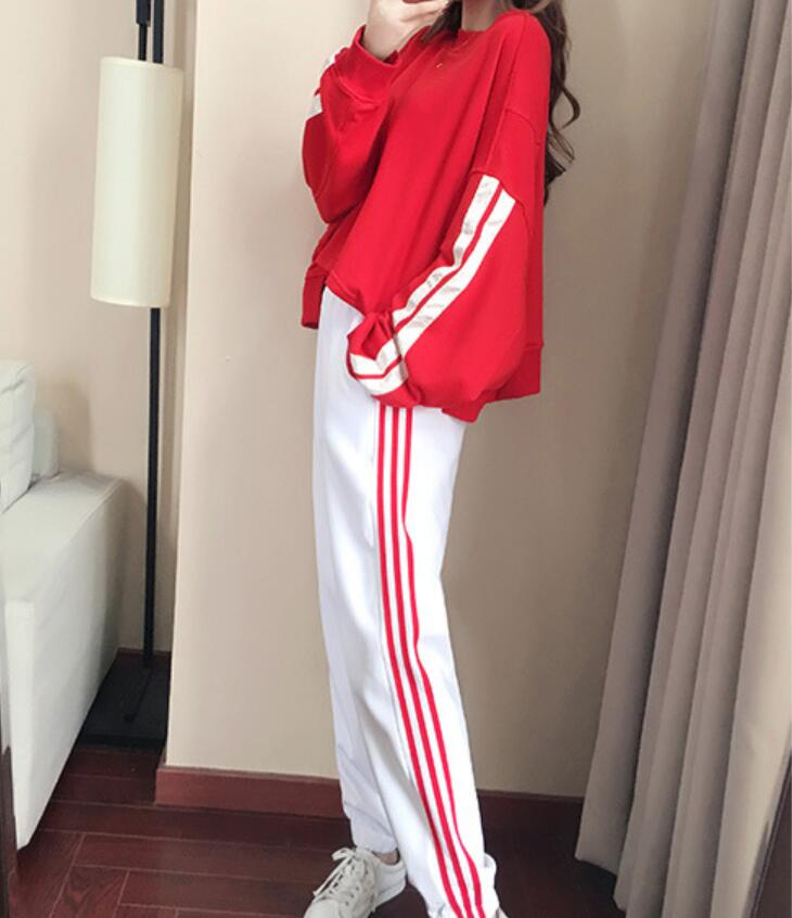 Casual suit female spring and autumn 2018 new autumn loose long-sleeved sweater trousers two sets of tide 5