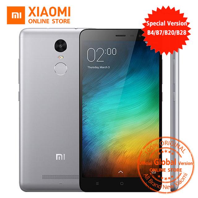 Official Global Version Xiaomi Redmi Note 3 pro prime special Edition Smartphone 5.5 Inch 3GB 32GB 16.0MP& B4 B20 B28 LTE