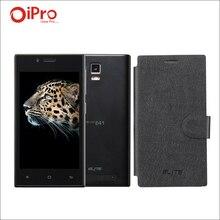 Original ELITE 4.0 pulgadas MTK6572 Teléfono Móvil Celular Android 4.4 Smartphone 1G RAM 8G ROM 5.0MP Dual SIM con Cuero caso