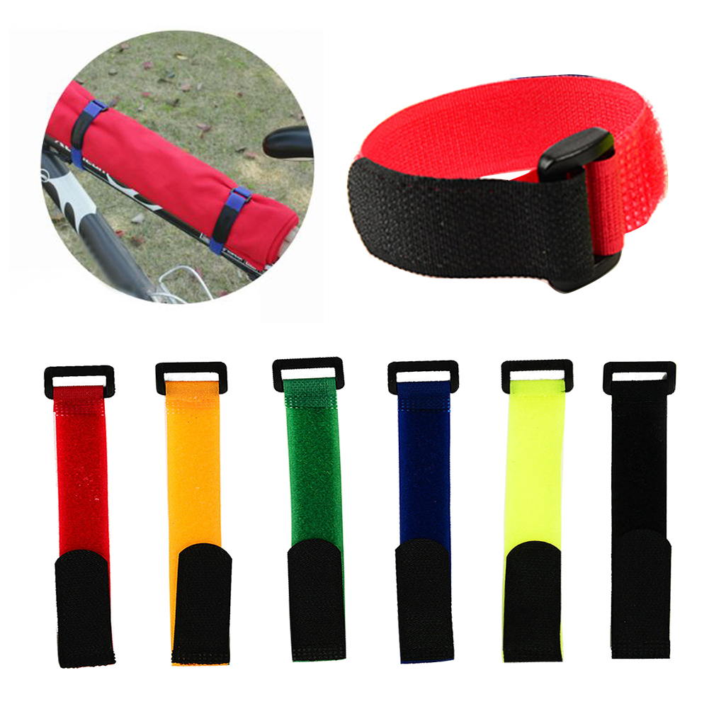 5Pcs Cycling Fastening Bike Supplies Magic Sticker Accessories Adjustable Multifunction Sports Bicycle Fixing Strap Band Tie