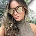 Mais novo Hot Sale Da Moda Mulheres Senhoras 2 Vigas óculos de Sol Oculos Óculos De Sol de Marca Designer de Personalidade Do Vintage Elegante Sexy Acolhedor