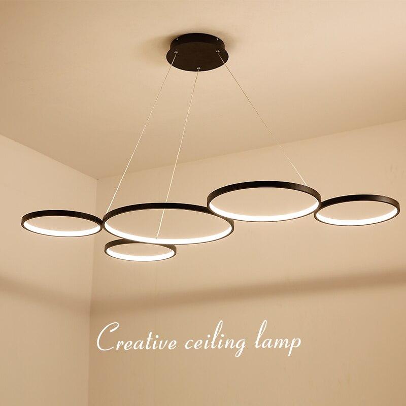 NEO Gleam Weiß/Schwarz Minimalismus Moderne LED Pendelleuchten für Esszimmer Küche Wohnzimmer Hänge Suspension Pendelleuchte