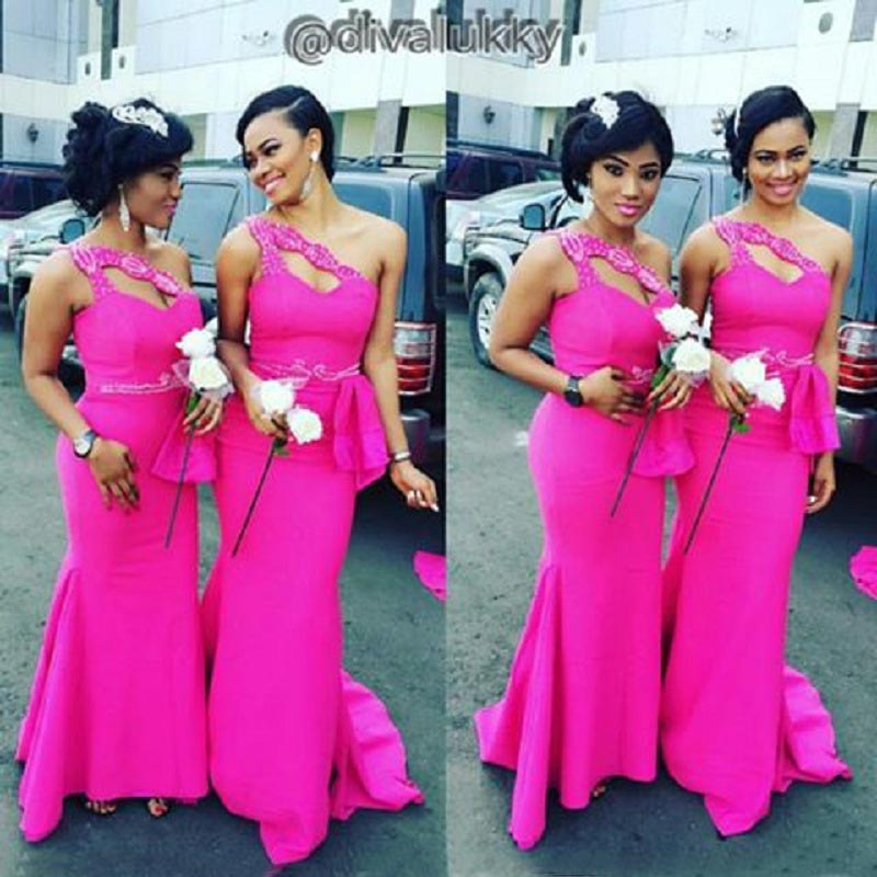 Cheap bridesmaid dresses fuschia